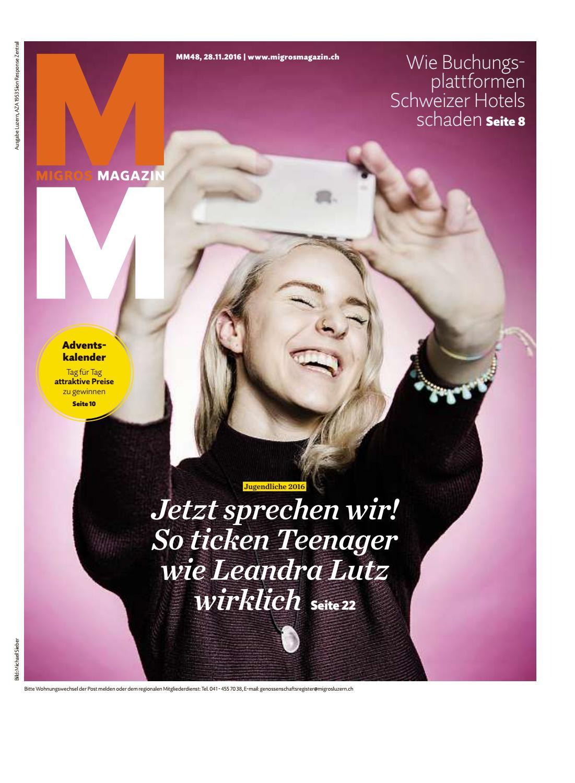 Migros magazin 48 2016 d lu by Migros-Genossenschafts