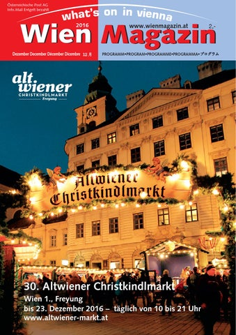 Wien Magazin 12 2016 By Waltraud Edelmayer Issuu