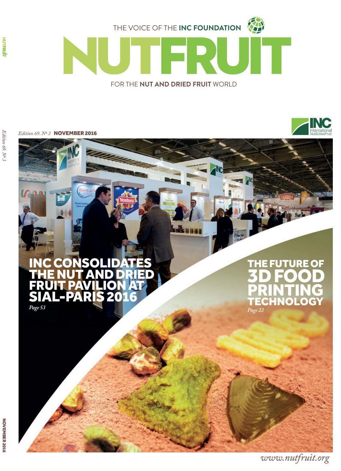 Nutfruit magazine, November 2016 by INC - International Nut & Dried
