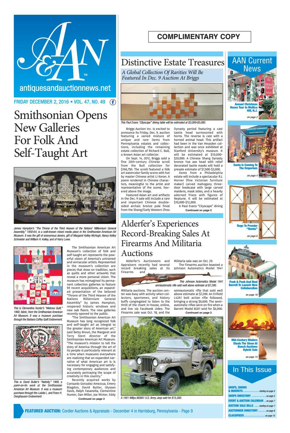Antiques Auction News 120216 By Antiques Auction News Issuu