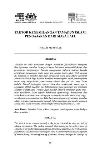 Faktor Kegemilangan Tamadun Islam By Ali Aziz Issuu