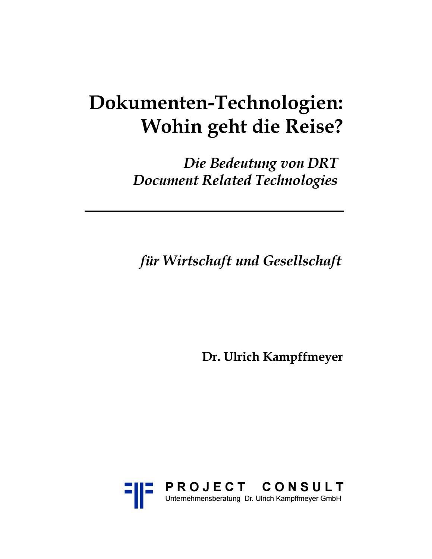 DE] Dokumenten-Technologien: Wohin geht die Reise? | Dr. Ulrich ...
