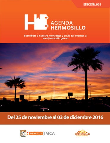"Cover of ""Agenda Hermosillo 25 Nov 2016"""