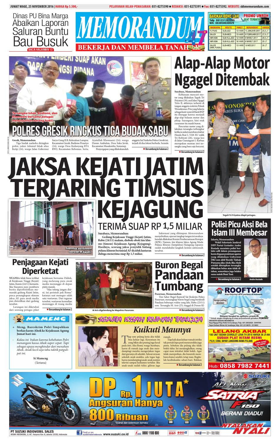 Memorandum Edisi 25 November 2016 By Issuu Produk Umkm Bumn Kapal Batok Lebak