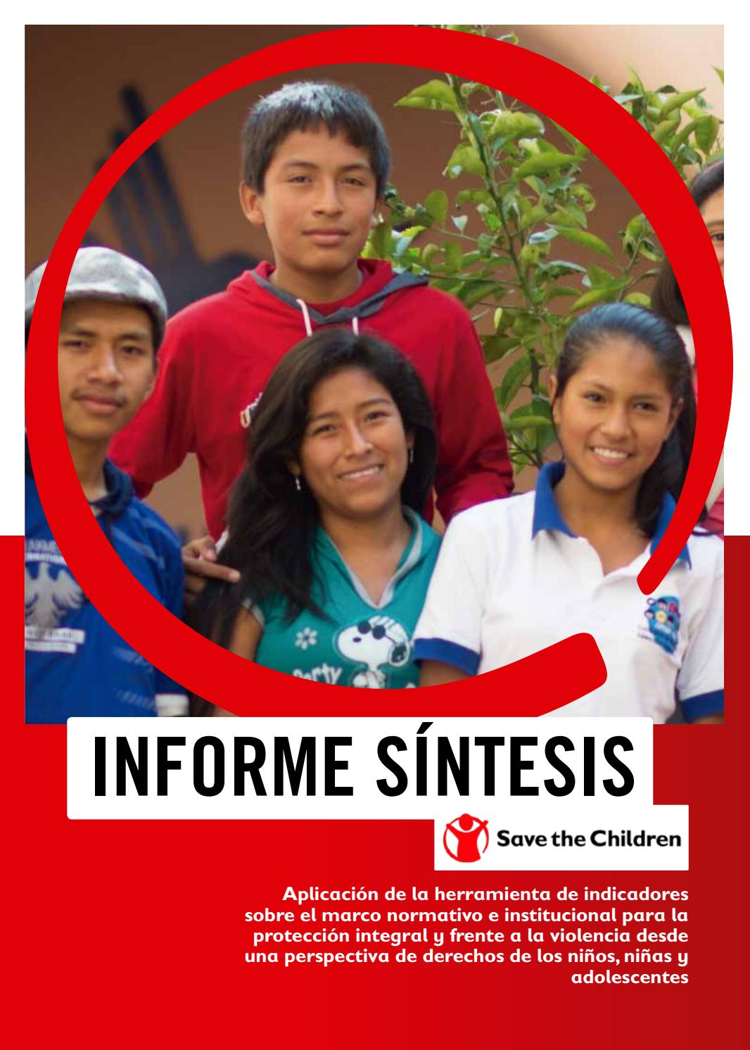 Informe Síntesis Final by Save the Children - issuu