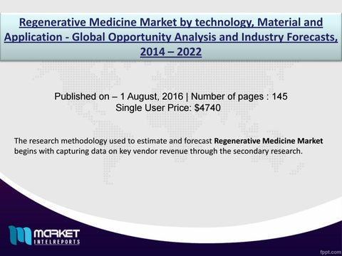 Regenerative Medicine Market: Europe invests high capital