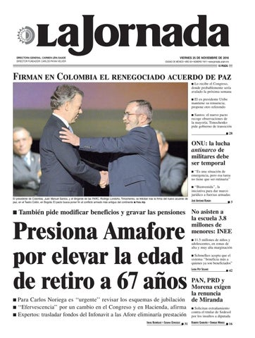 La jornada 11 25 2016 by la jornada demos desarrollo de for Noticias actuales de espectaculos