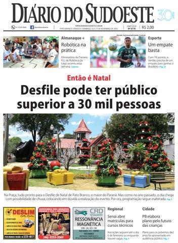 d478907fa Diário do sudoeste 26 e 27 de novembro de 2016 ed 6770 by Diário do ...