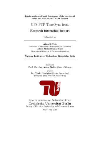 Gps ptp timesync report by Ajin Tom - issuu