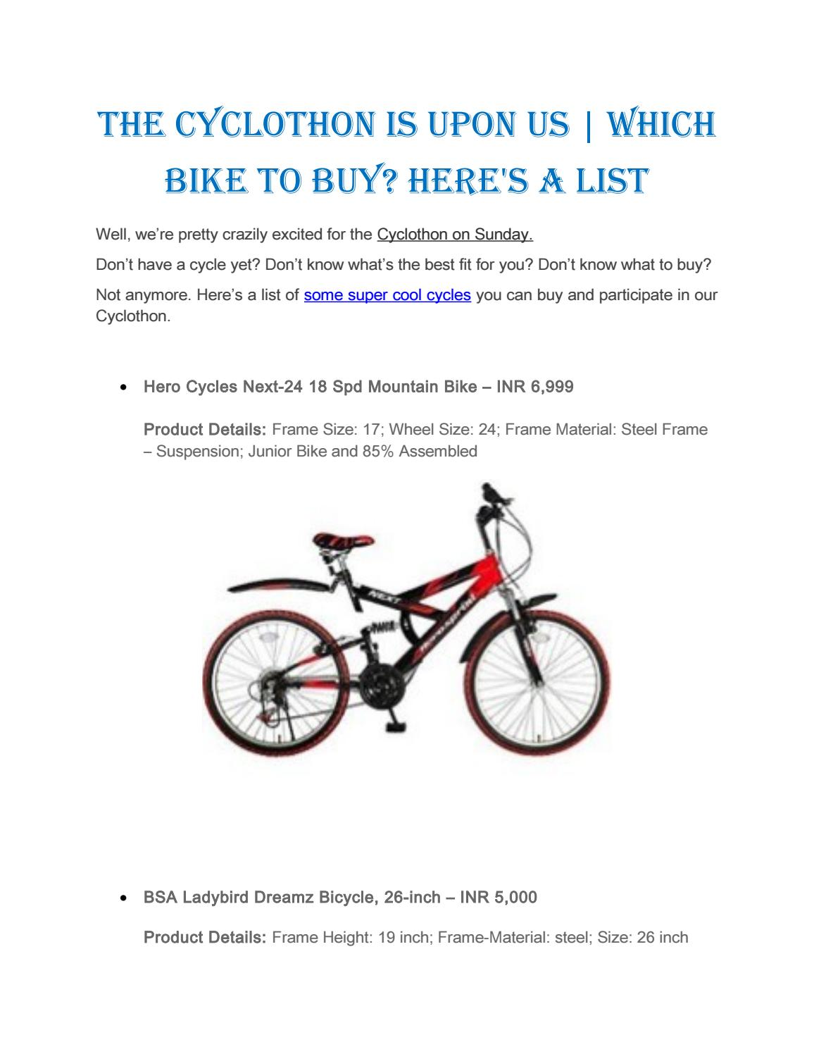 The Cyclothon is upon us | Which bike to buy? Here\'s a list by Take ...