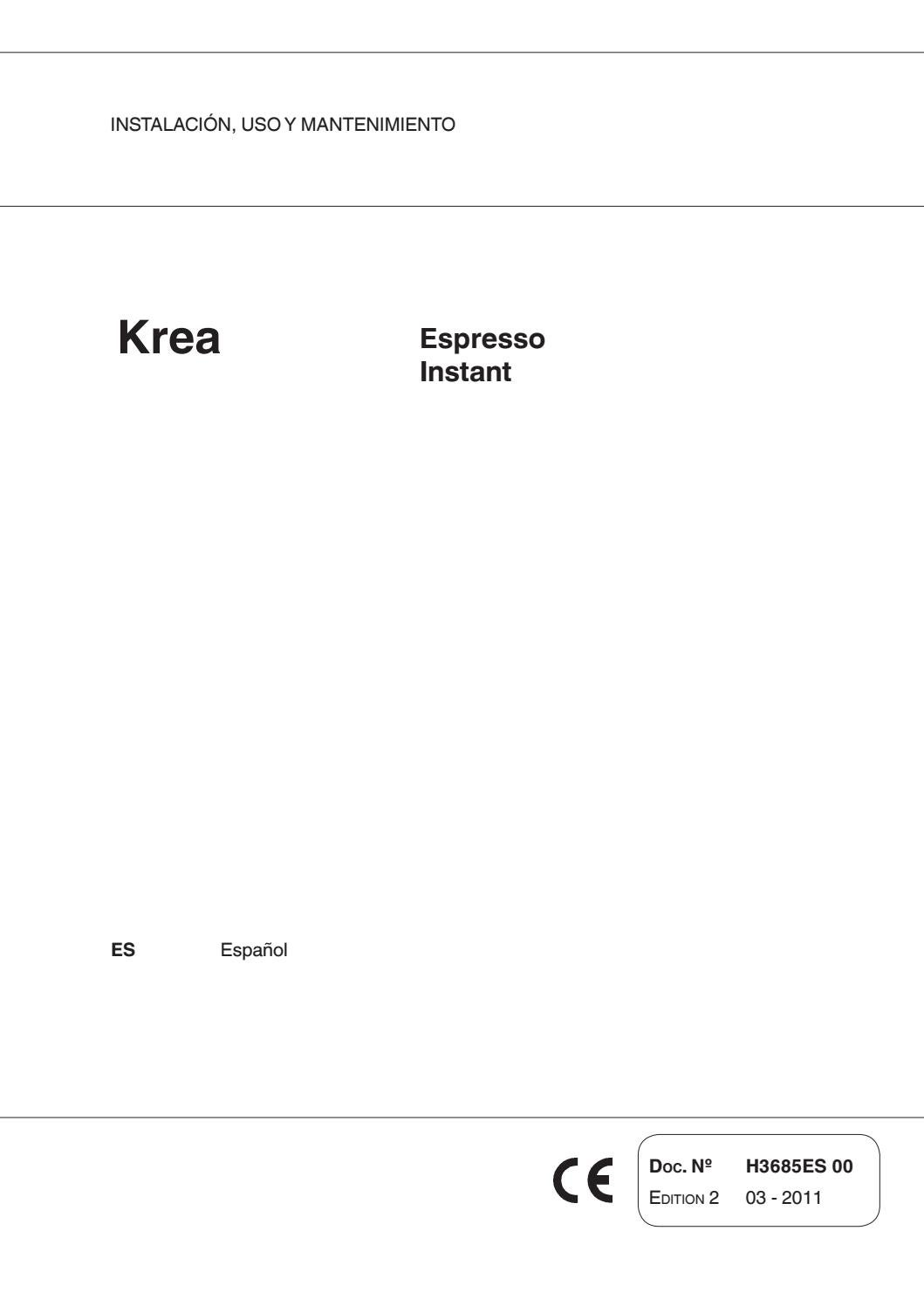 Manual krea by Espressa Group - issuu