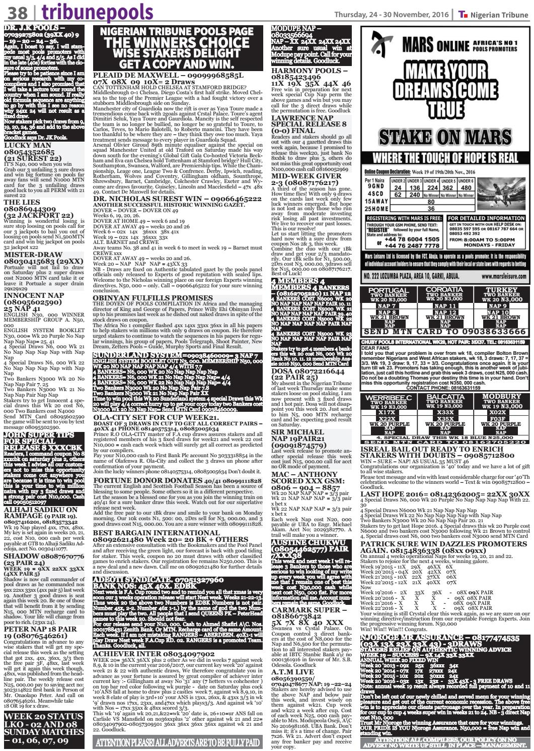 24th November 2016 by Nigerian Tribune - issuu