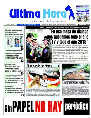 Edicion 28 11 2016 by Ultima Hora - El primer diario de Portuguesa ... 997426ad360