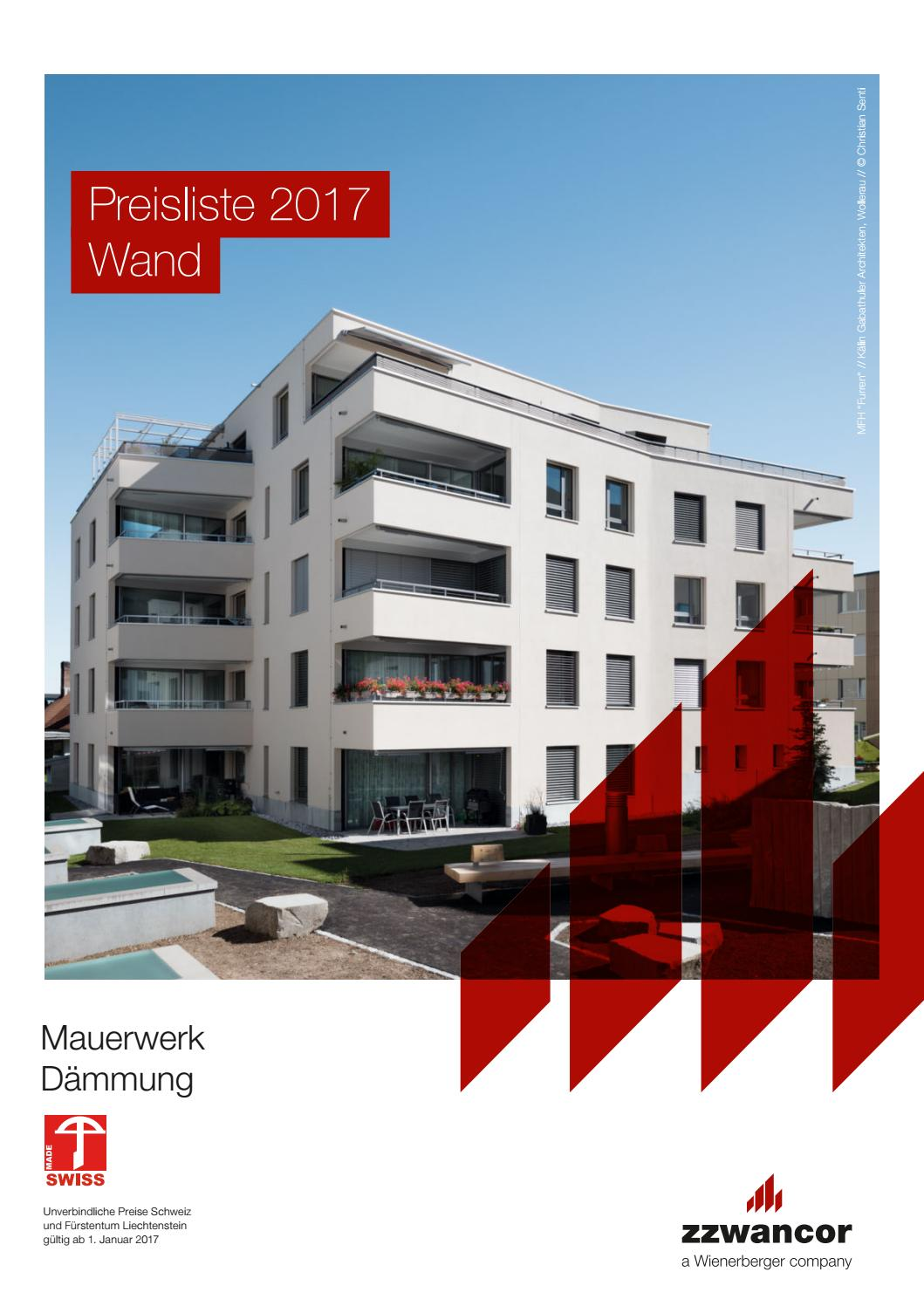 preisliste wand 2017 mauerwerk d mmung pdf by. Black Bedroom Furniture Sets. Home Design Ideas