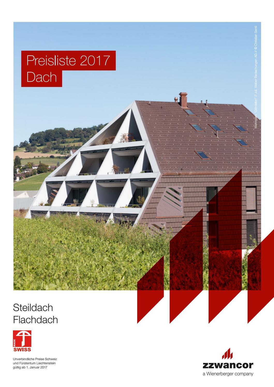 preisliste dach 2017 steildach, flachdach ( pdf) by wienerberger