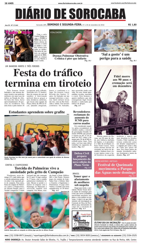 762862d170 Edição de 27 de novembro de 2016 by DIÁRIO DE SOROCABA - issuu