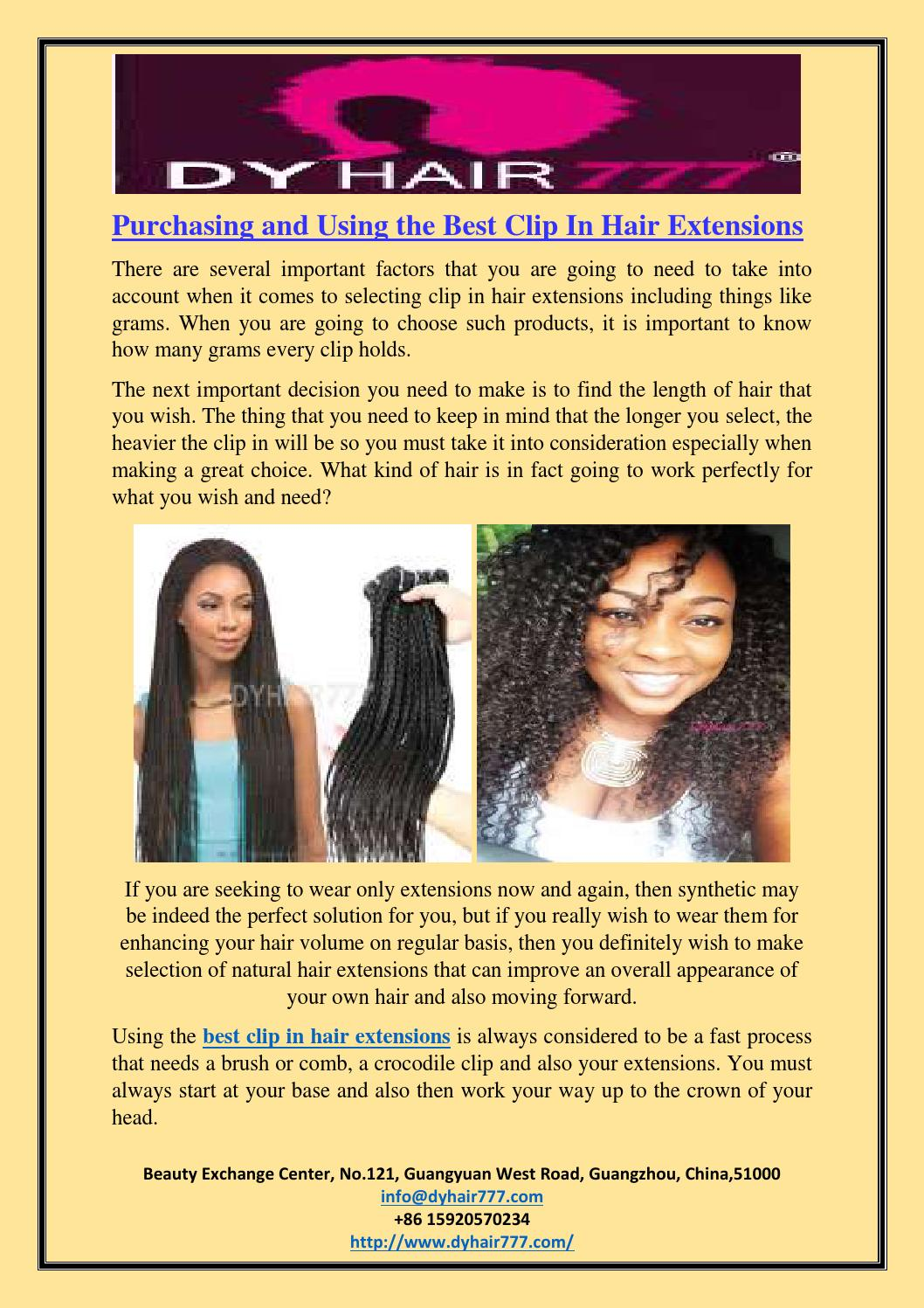 Purchasing And Using The Best Clip In Hair Extensions By Dy Hair777