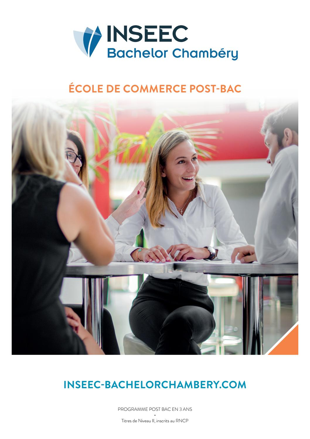 Brochure Inseec Bachelor Chambery Post Bac By O Et D Issuu