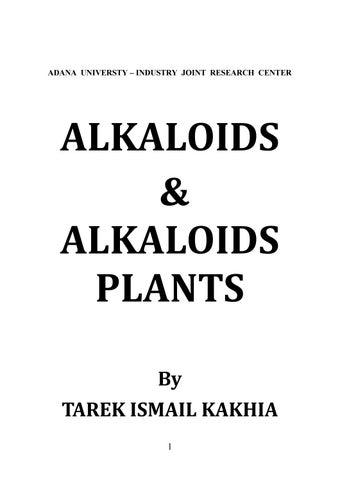 Alkaloids & alkaloids plants by Hunain Taimi - issuu