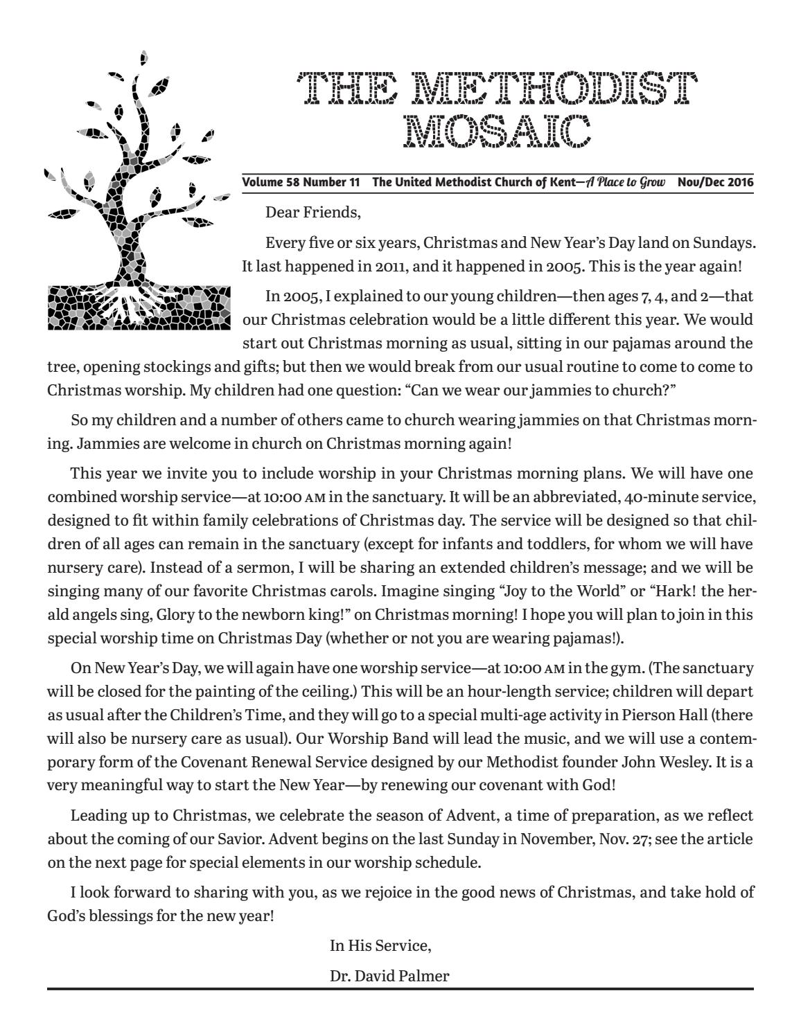 December Mosaic 2016 by United Methodist Church of Kent - issuu
