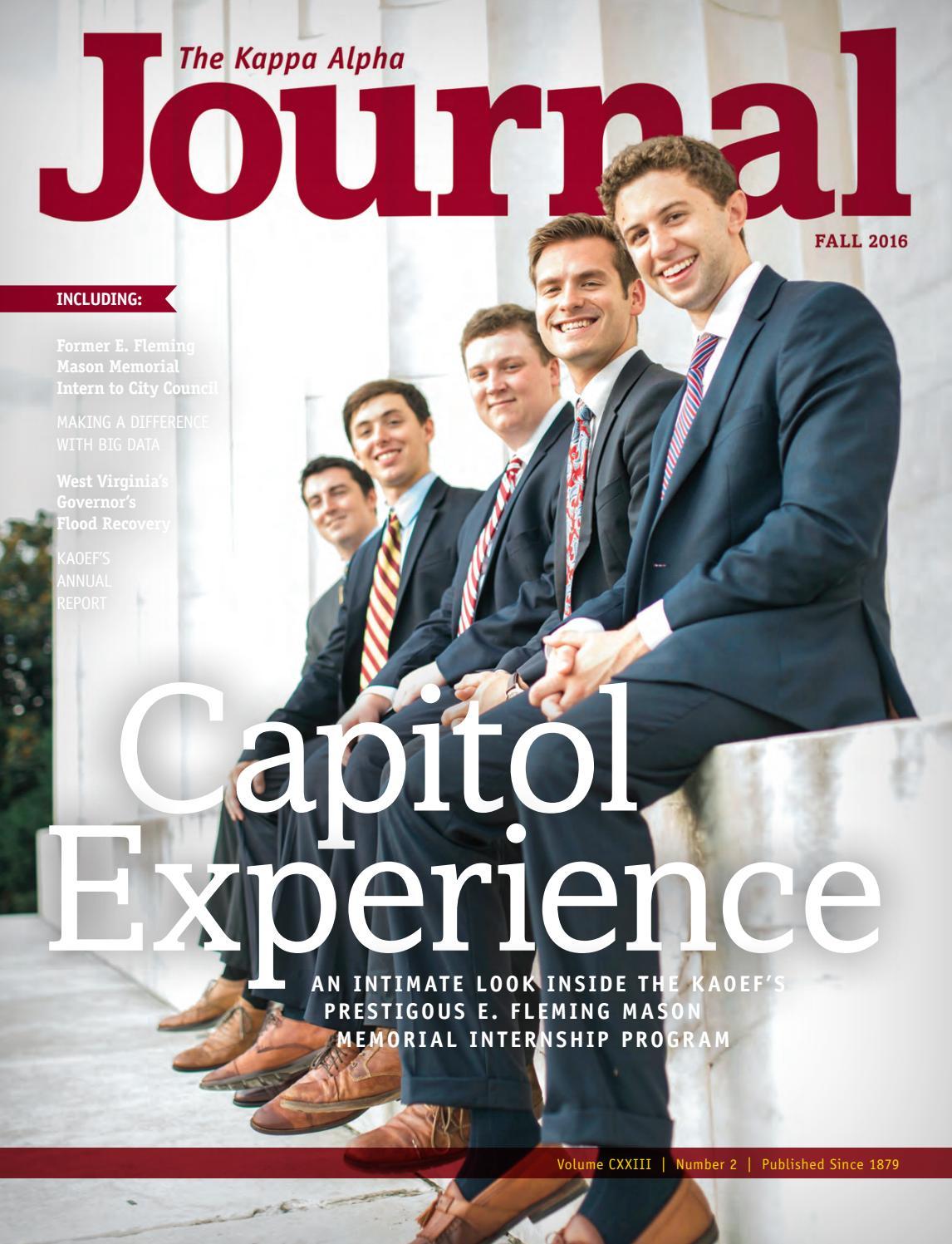 The Kappa Alpha Journal - Fall 2016 by Kappa Alpha Order - issuu