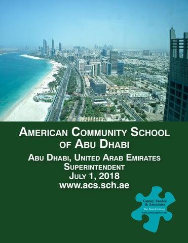 American Community School Of Abu Dhabi Superintendent Search By Carney Sandoe Associates Issuu