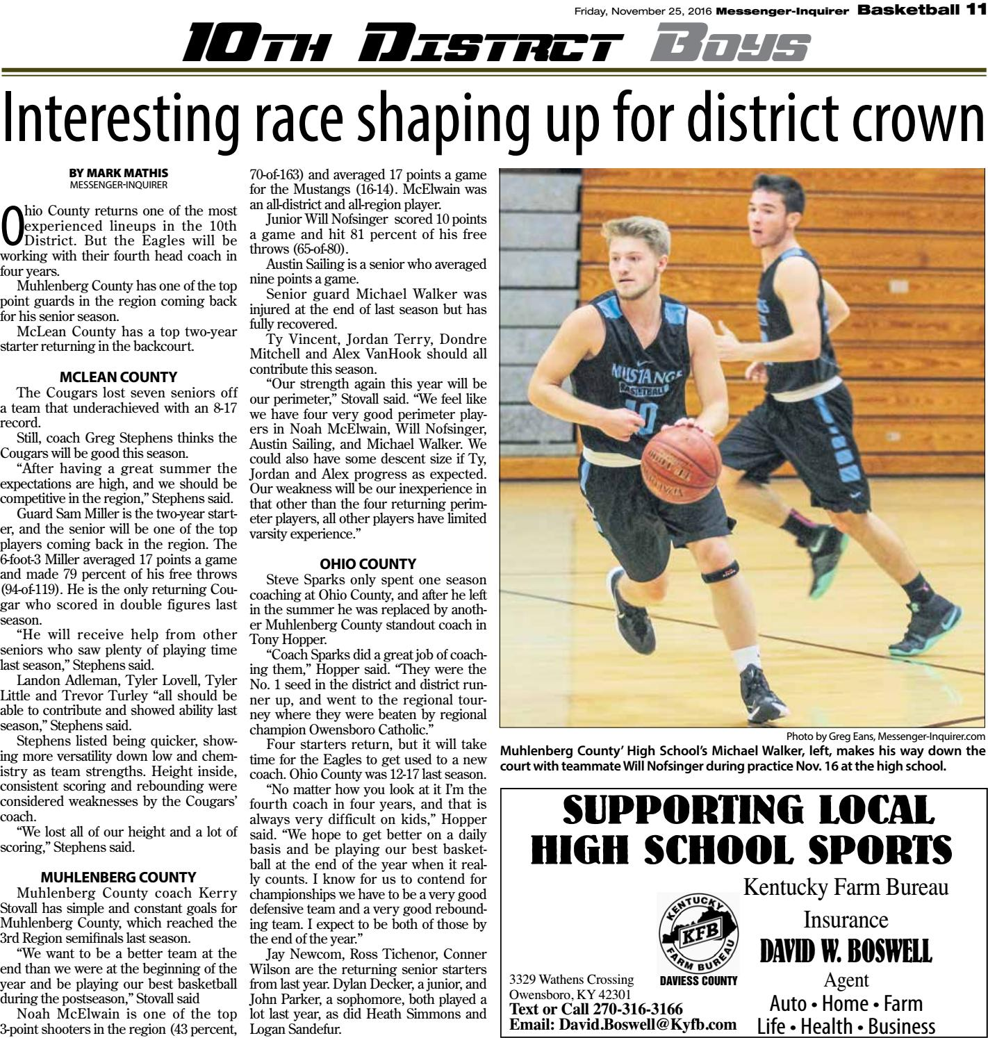 2016 17 High School Basketball Preview By Messenger Inquirer Issuu