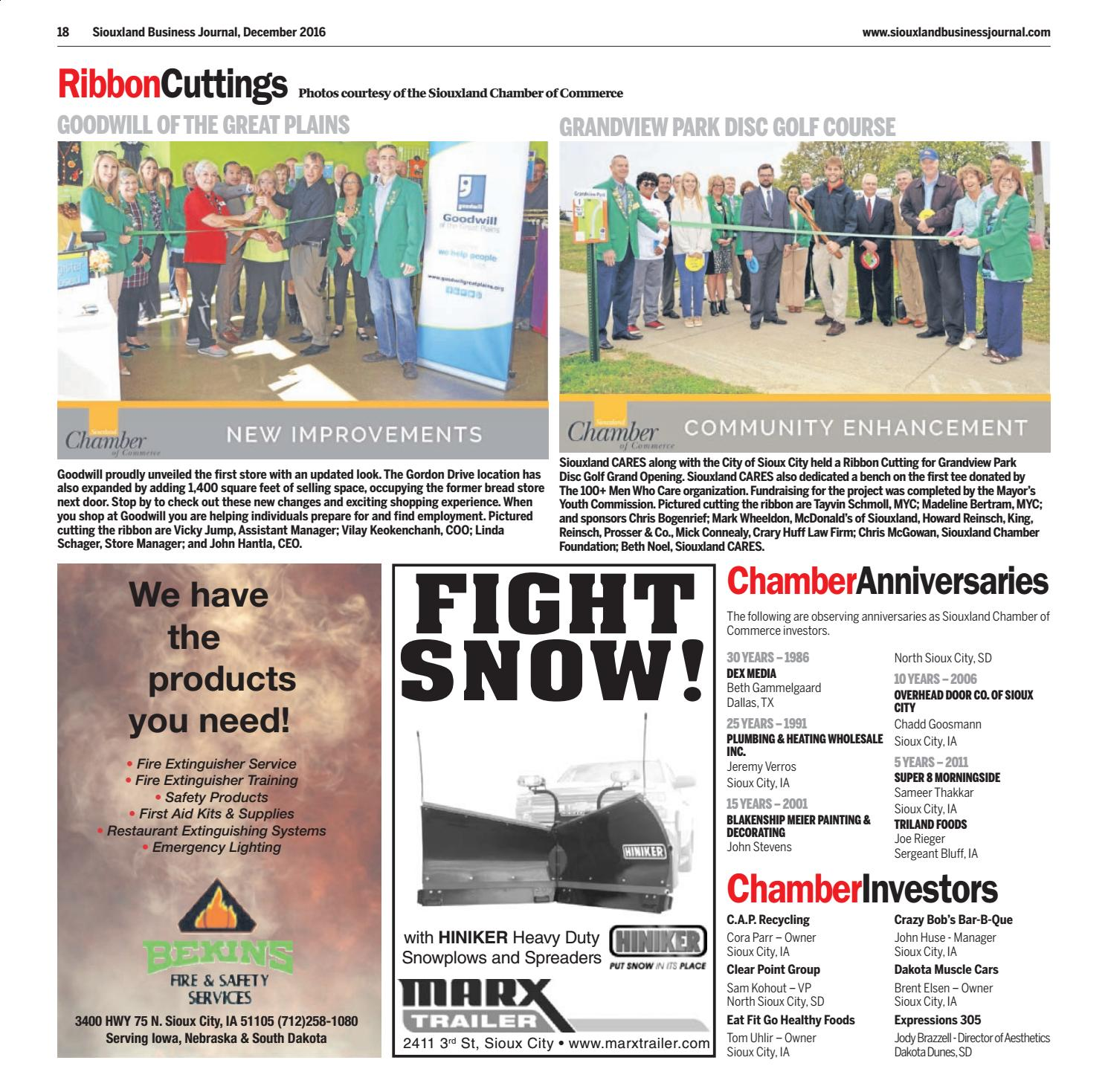 Siouxland Business Journal   December 2016 By Sioux City Journal   Issuu