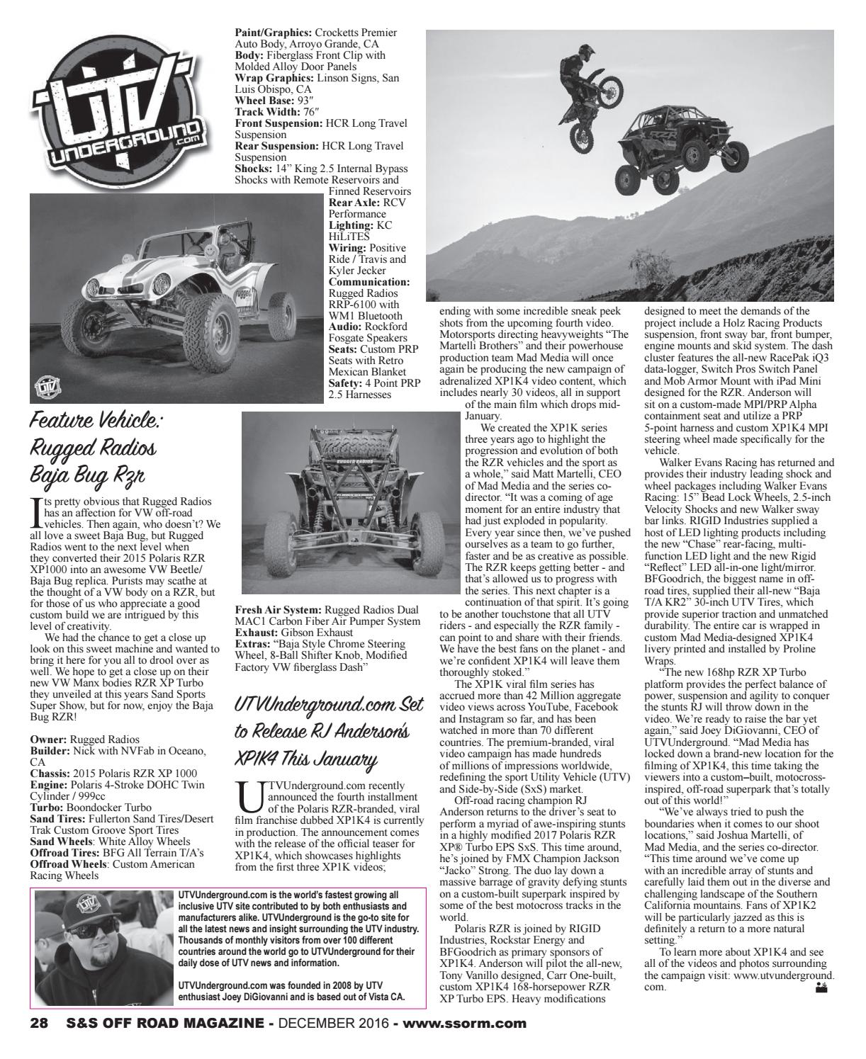 S&S Off Road Magazine December 2016 by S&S Off Road Magazine - issuu