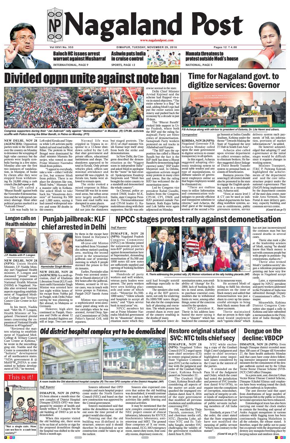November 29, 2016 by Nagaland Post - issuu