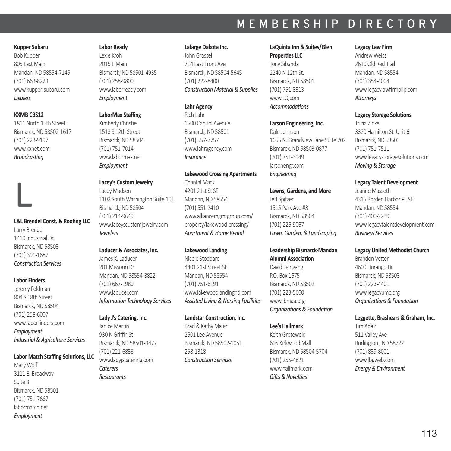 2017 Bismarck-Mandan Community Guide + Chamber Directory by