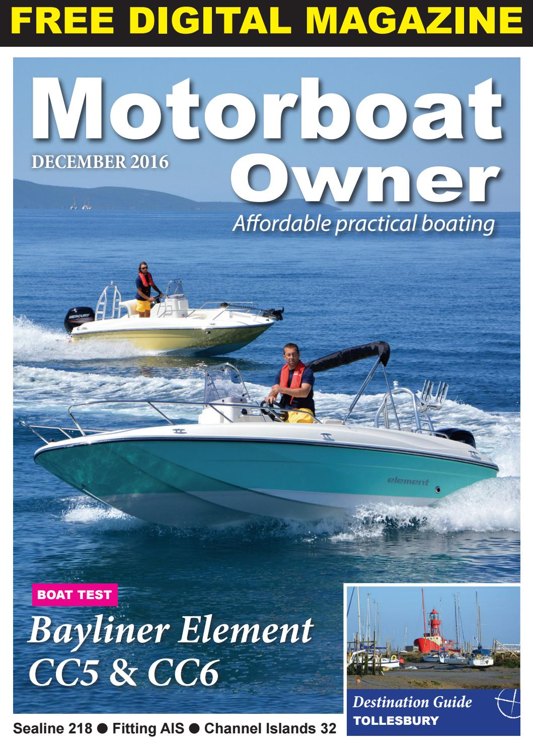 Motorboat Owner December 2016 by Digital Marine Media Ltd