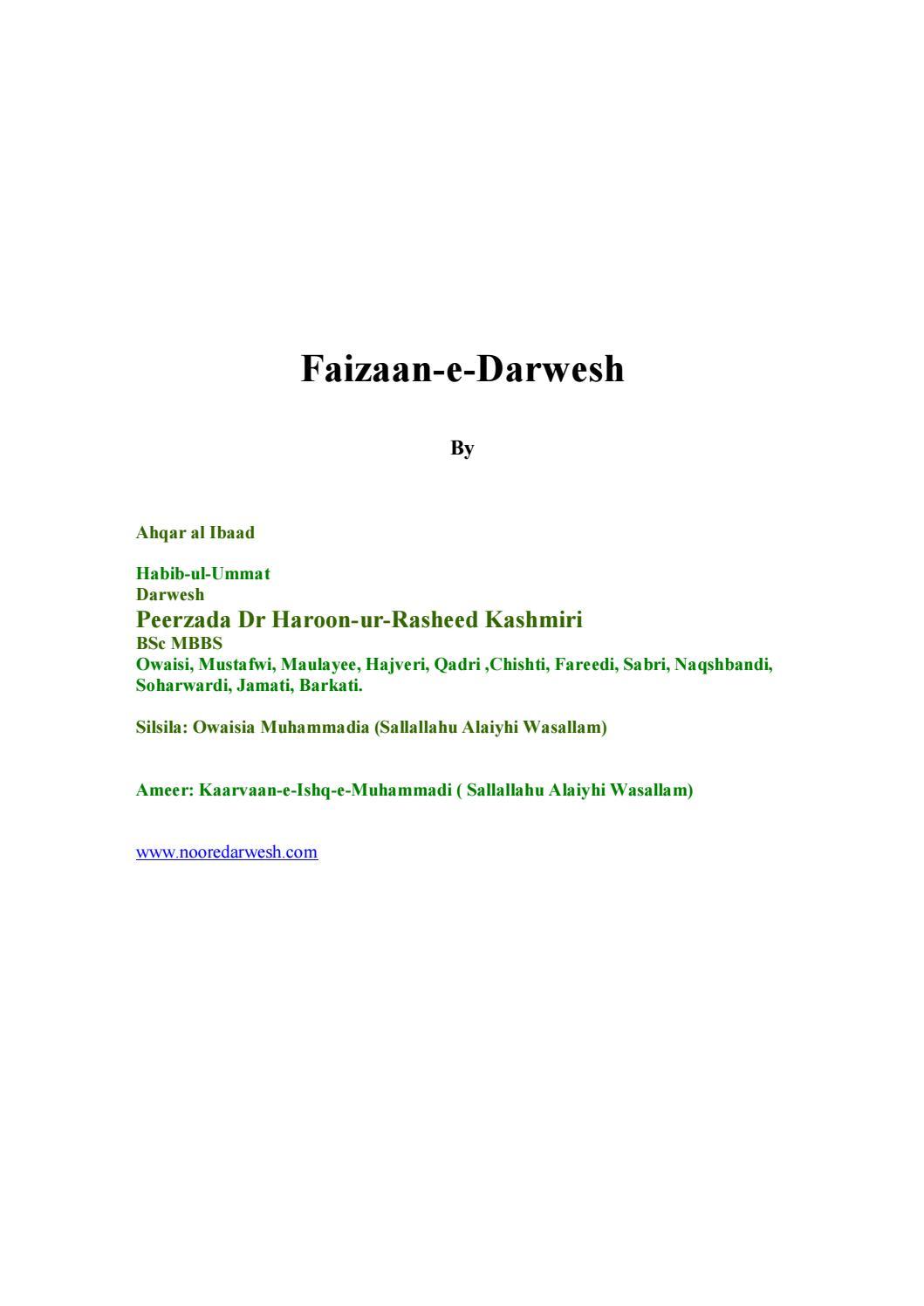 Faizaanedarwesh by Perjada Nurmohamad - issuu