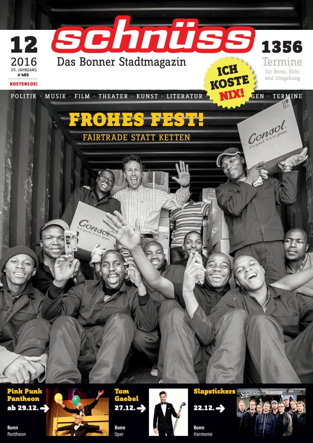 Schnüss 2016/12 by Schnüss - Das Bonner Stadtmagazin - issuu