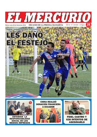 Lunes 28 de Noviembre del 2016 by Diario El mercurio - issuu