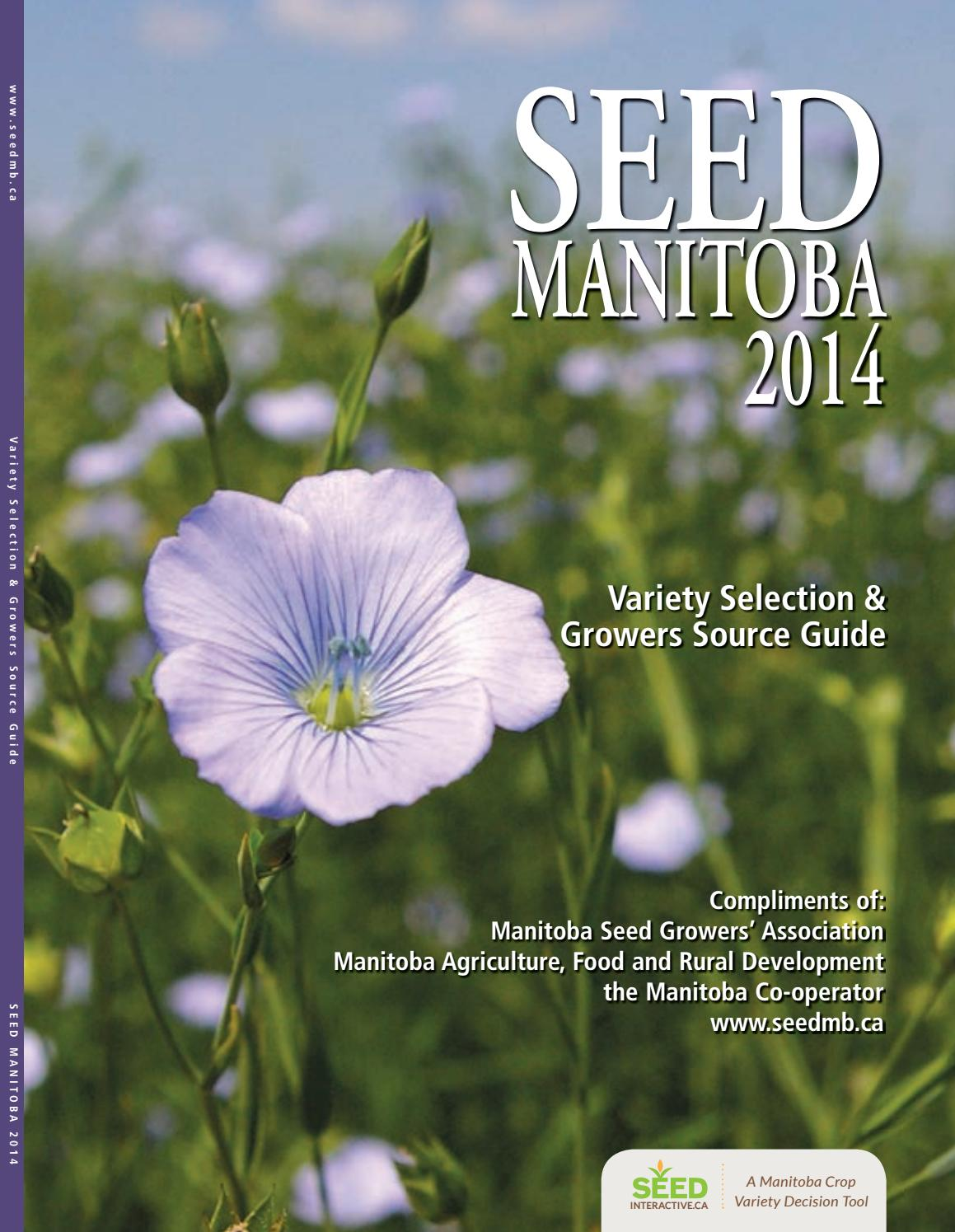 Seed Manitoba 2014 By Farm Business Communications Issuu