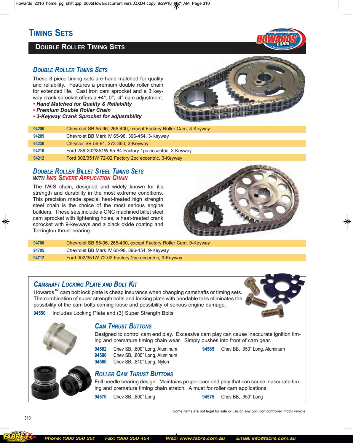 Howards Cams 2016-2017 Catalog by Fabre Australia - issuu