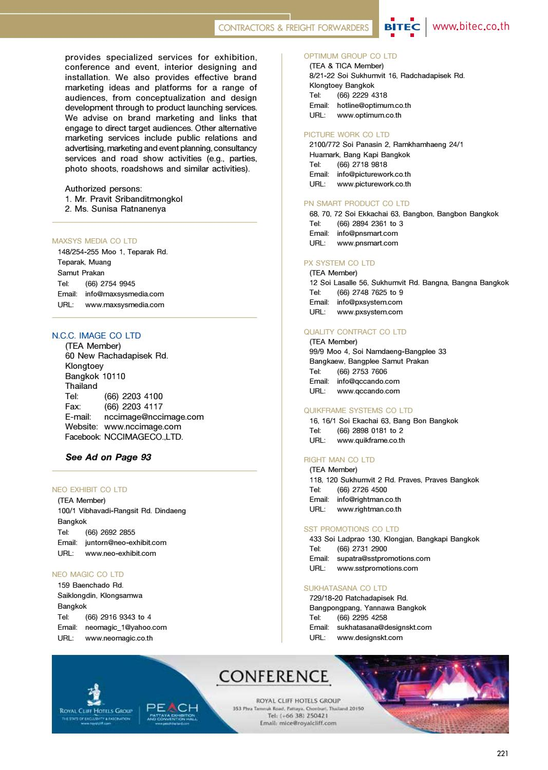 Thailand Convention & Exhibition Directory 2016/2017 by