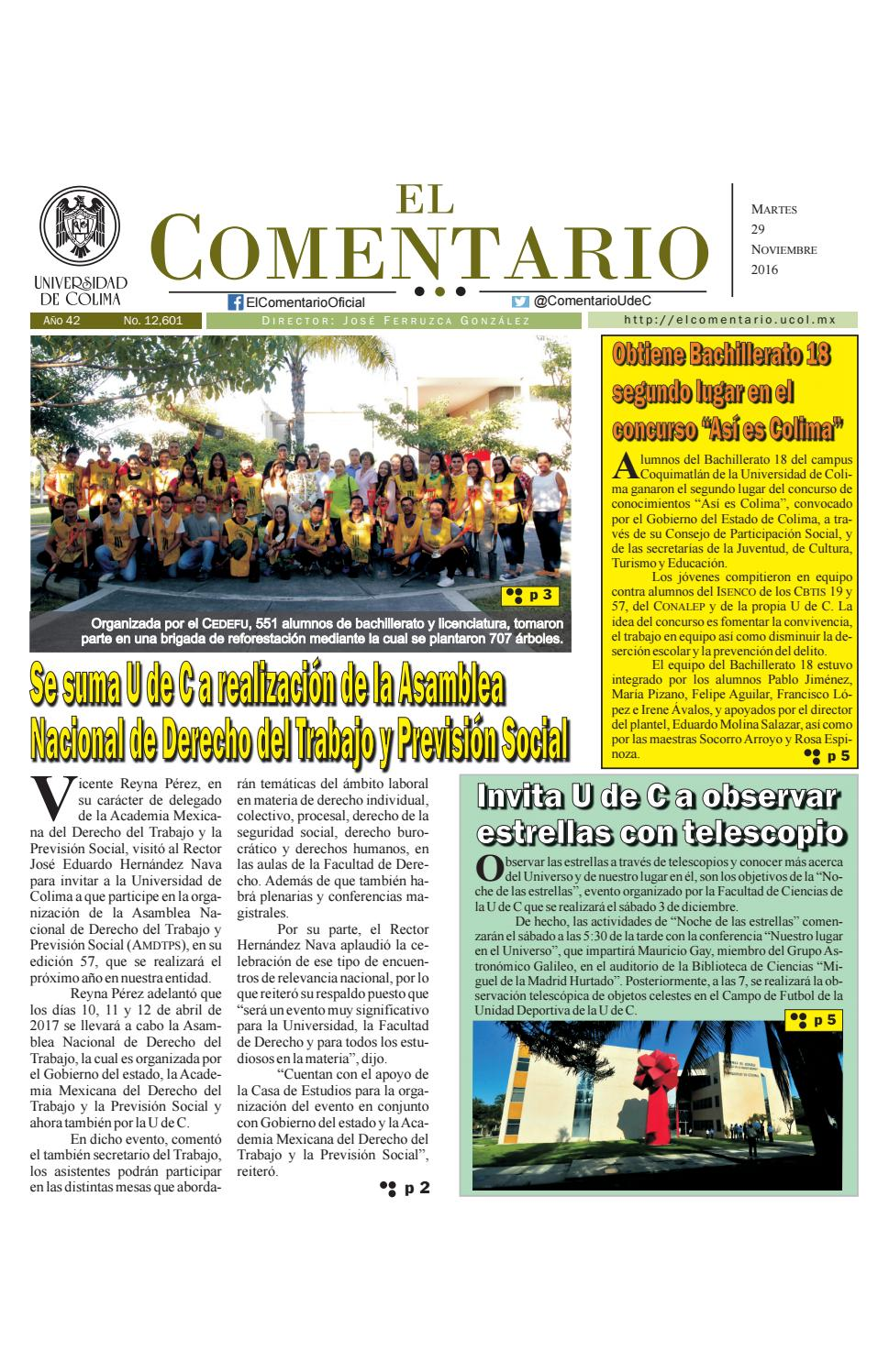 Edición del martes 29 de noviembre de 2016 by Pepe Ferruzca - issuu
