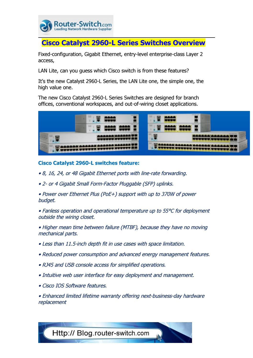 Introducing the new cisco catalyst 2960 l series switches by Router ...