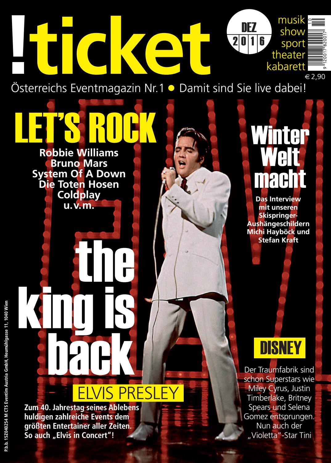 ticket Dezember 2016 by TICKET Das Eventmagazin - issuu