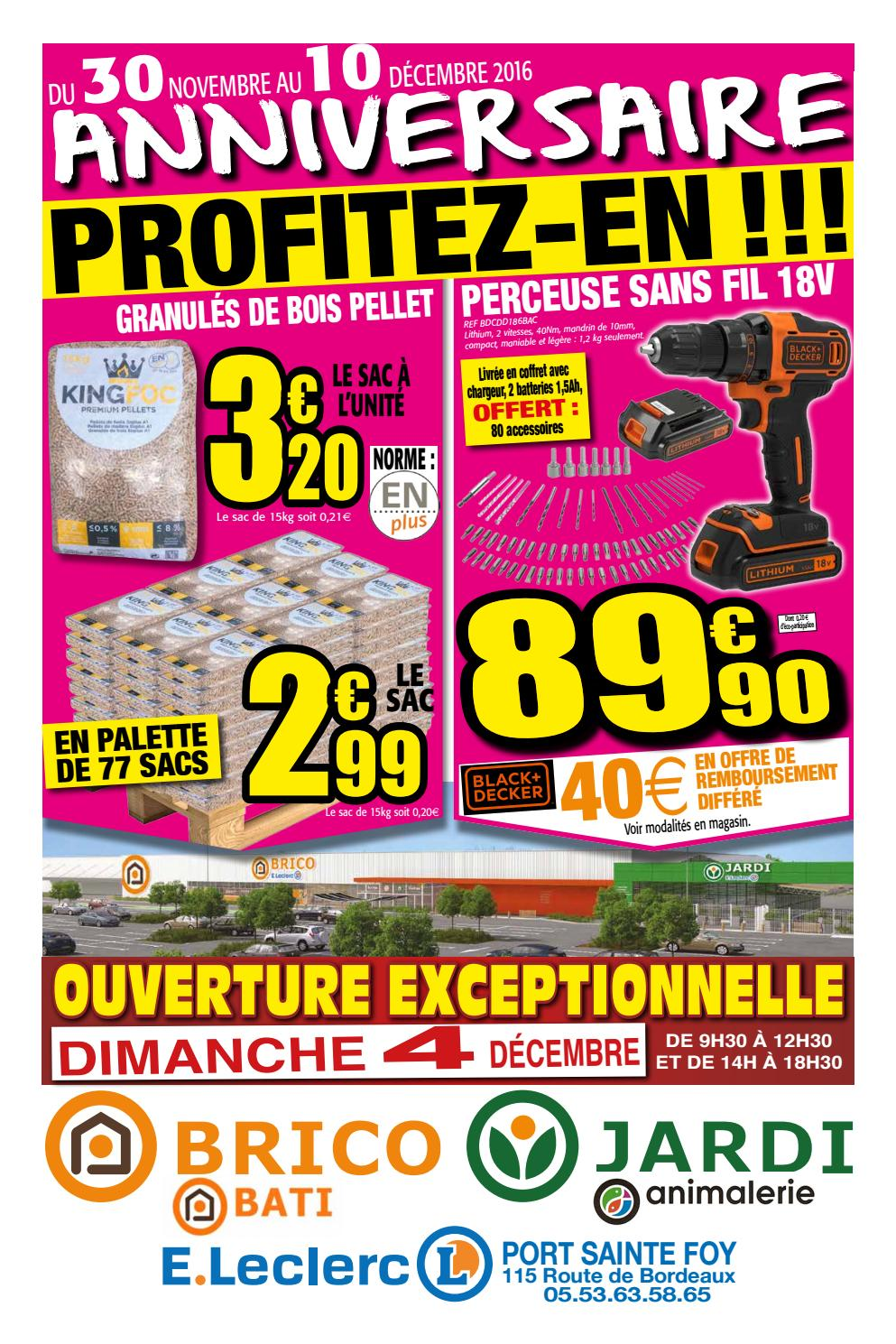 Brico Leclerc Port Sainte Foy Catalogue