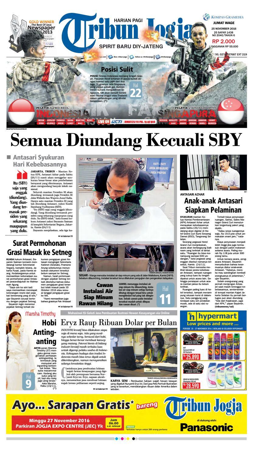 Tribunjogja 25 11 2016 By Tribun Jogja Issuu Produk Ukm Bumn Pusaka Coffee 15 Pcs Kopi Herbal Nusantara Free Ongkir Depok Ampamp Jakarta