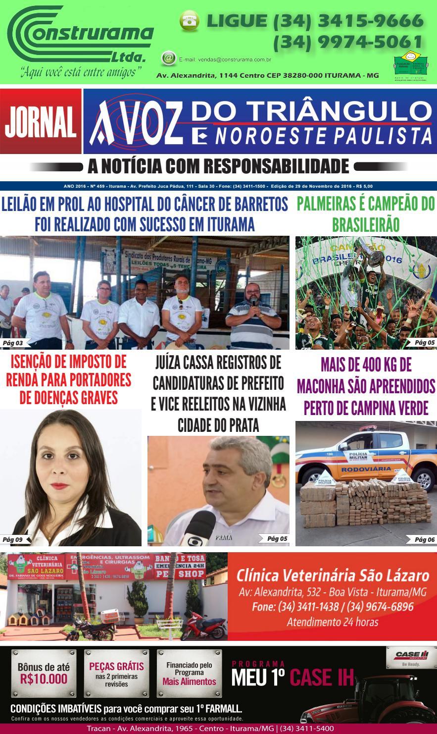 a32cad0893ecf Edição 459 - 29 de Novembro de 2016 by Jornal A Voz do Triângulo - issuu
