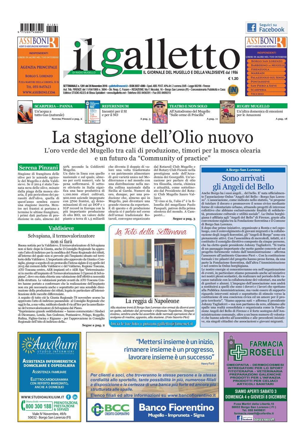 Galletto 1281 Del 26 Novembre By Il Galletto Giornale Issuu