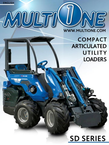 Multione Compact Articulated Utility Loader Sd Series By