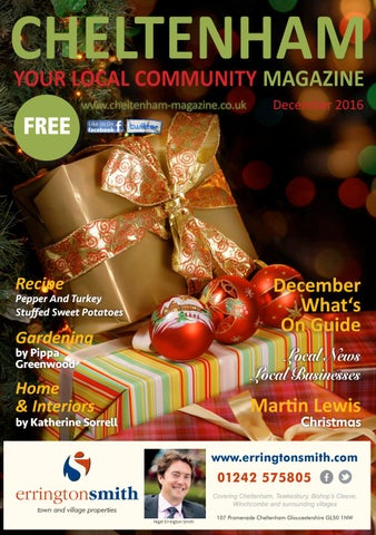 Cheltenham Magazine December 16 By Love Local Magazines Formerly
