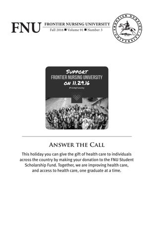 Fall 2016 Fnu Quarterly Bulletin Volume 91 Number 3 By Frontier