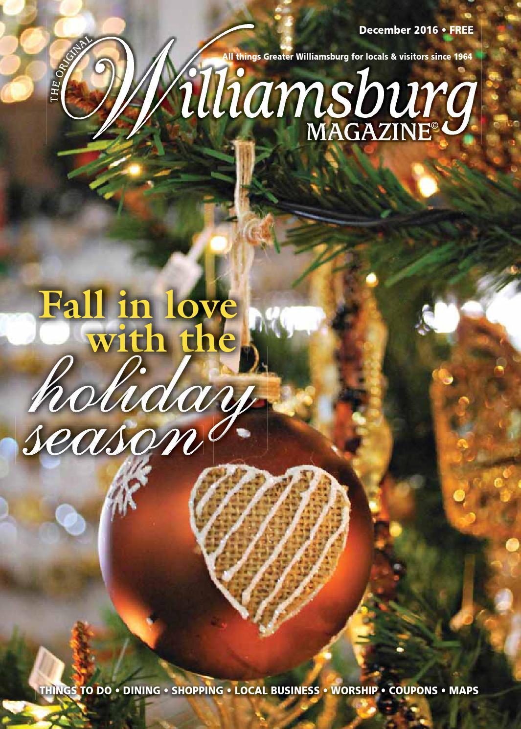 December 2016 Williamsburg Magazine by The Virginia Gazette - issuu