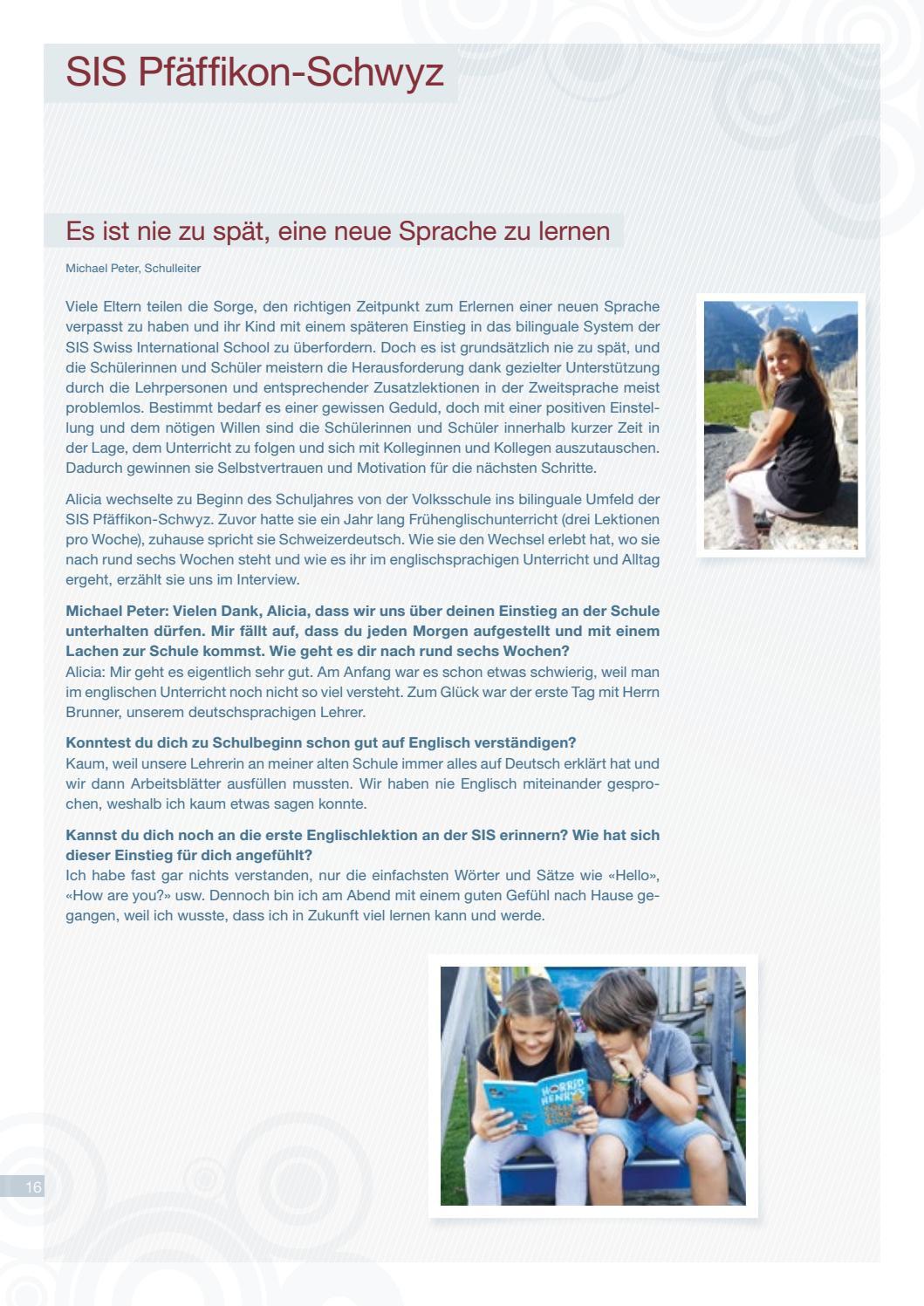SIS News Autumn 2016 by SIS Swiss International School Schweiz - issuu